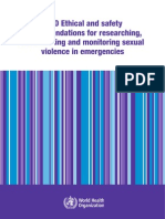 Ethical and Safety Recommendation for Documenting and Monitoring Sexual Violence