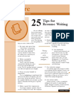 Prepare Tips Resume Writing