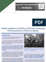 Dunbar Spring 2011 Newsletter