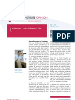 Itinera Opinion 9 Mei 2011 - Les Pensions Notre Probleme a Tous