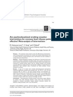 Are Psycho Educational Smoking Cessation Interventions