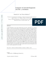 Dynamical transport of asteroid fragments from the nu6 resonance