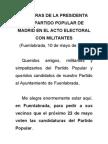 Palabras de Esperanza Aguirre en el mitin de Fuenlabrada