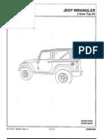 Mopar 82209746AB JK 2 Door Soft Top Installation Manual