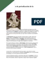 modelos de periodización de la Historia
