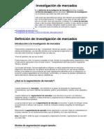 Definicion de Investigacion de Mercados Segmentaciondemercado Wordpress Com
