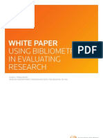 Thomson Reuters Using Bibliometrics