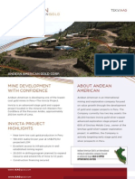 Andean American Gold (AAG) - Corporate Fact Sheet