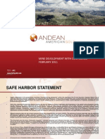 Andean American Gold (AAG) - Corporate Presentation