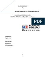 Cb- Project Report Maruti