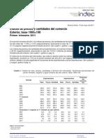 INDEC - Precios de Comercio Exterior [Primer Trimestre 2011]
