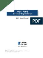 Pg11 User Manual 2007