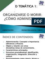 ORGANIZARSE O MORIR