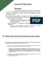 Pronomes Pessoais ppt 1º ano desafio