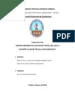+ Propuesta Plan Tesis Centro Recreativo + Apart Hotel en Huanchaco