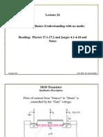 Lecture24 MOS Transistors