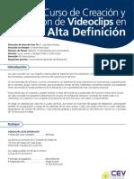 Curso de Creacion y Direccion de Video Clips en Alta Definicion