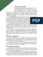As fontes de energia no Brasil