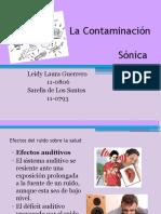 La Contaminacin Sonica