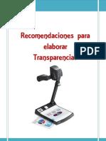 Recomendaciones Para Elaborar Transparencias