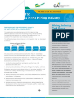 Background on Different Phases of Activities of a Mining Entity