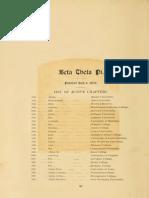 Ohio University 1893 Athena Yearbook- Beta Theta Pi Fraternity