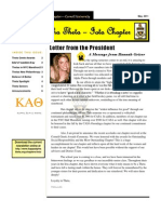 Kappa Alpha Theta, Iota Newsletter - May 2011