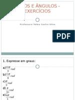 Arcos e Angulos - Exercicios