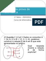 Gabarito 1ª prova - Inform