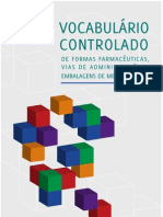 Vocabulário Controlado de Formas Farmacêuticas, Vias de Administração e Embalagens de Medicamentos
