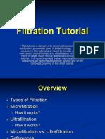 Filtration Tutorial