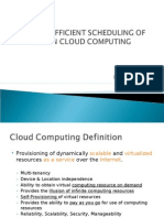 Scheduling of Hpc in Cloud Computing