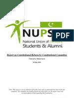 Report on NUPSA Constitutional Reform