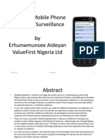 E-Health Including the Use of Mobile Phone in Disease Surveillance