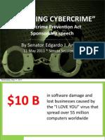 "Cybercrime Prevention Act Sponsorship Speech - ""Quashing Cybercrime"" (05.11.2011)"