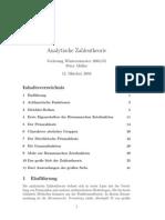 Analytische Zahlentheorie - Skript