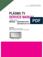 Service Manuals LG TV PLASMA 42PX3RV 42PX3RV Service Manual