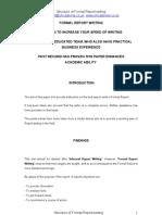 Formal Report Writing