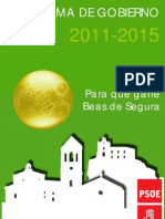 Programa de Gobierno PSOE Beas de Segura