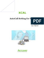 Accuver XCAL AutoCallSettingForMMS v1.2
