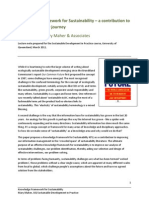 Knowledge Framework for Sustainability Paper