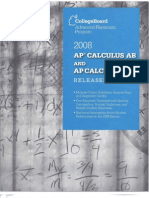 2008 Released AP Calculus BC&AB Exams