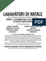Firenze Oltrarno Scuole laboratorio Natale