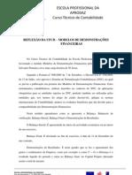 REFLEXÃO DA UFCD -MODELOS DE DEMONSTRAÇÕES FINANCEIRAS