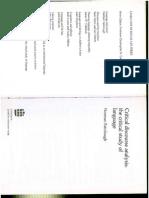 Fairclough Critical Discourse Analysis 1995