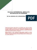 CALCULO DIFERENCIAL ABSOLUTO
