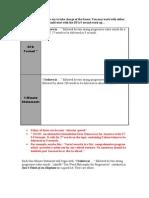 Elevator Speech and First Framing Worksheet