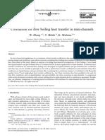 Correlation for Flow Boiling Heat Transfer in Mini-channels