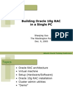 Building Oracle 10g RAC in a Single PC