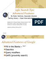 Google Advanced Features1